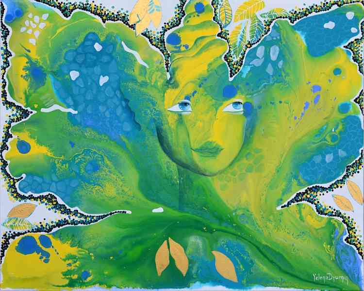 Transformation original whimsical art painting by Yelena
